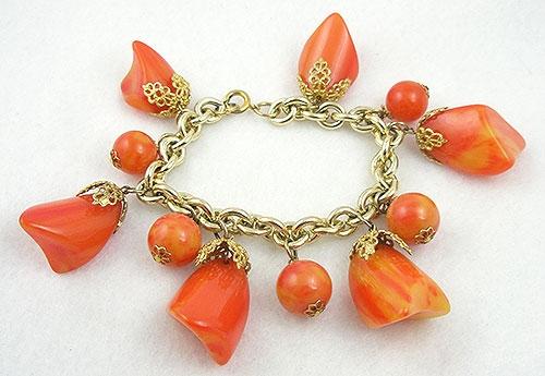 Charm Jewelry - Tequila Sunrise Bakelite Charm Bracelet