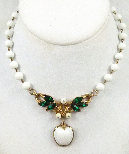 Newly Added Trifari White Apple Necklace