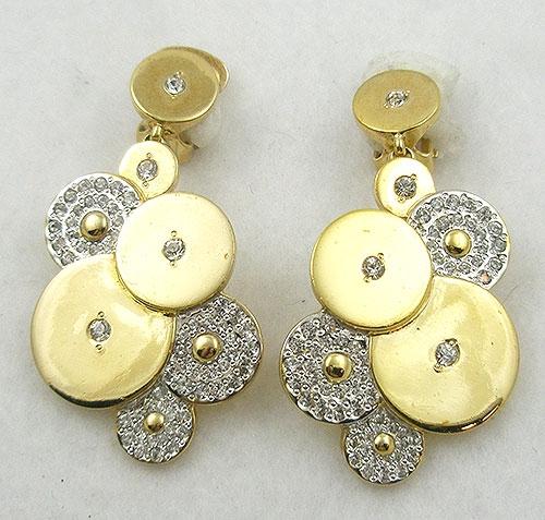 Earrings - Italian Rhiestone Circles Earrings