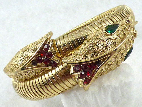 Trifari - Trifari Gold Snake Wrap Bracelet
