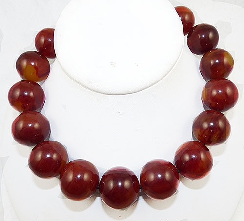 Lane, Kenneth J. - Kenneth J. Lane Bakelite Bead Necklace