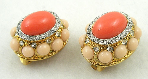 Lane, Kenneth J. - KJL Domed Coral Earrings