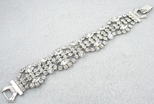 Bridal, Wedding, Special Occasion - Weiss Rhinestone Bracelet