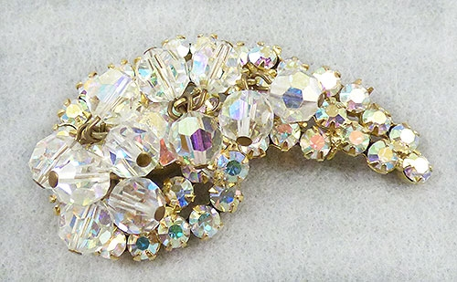 Brooches - DeLizza and Elster Aurora Rhinestone Brooch