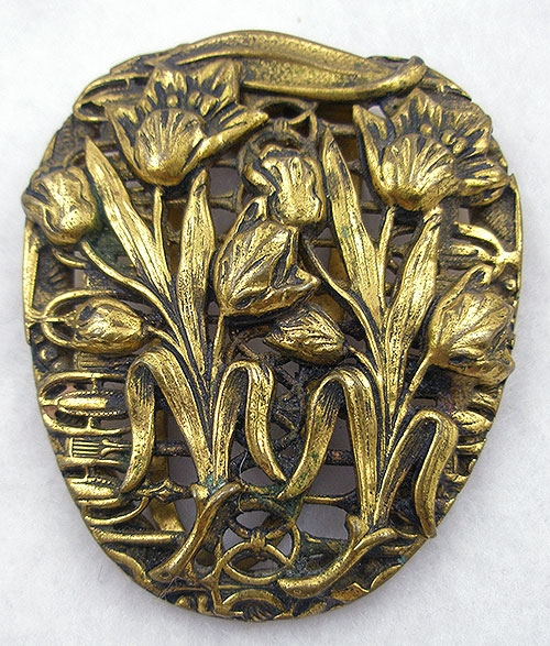 Art Nouveau - Art Nouveau Tulips Dress Clip