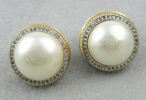 Rosenstein, Nettie - Nettie Rosenstein Mabé Pearl Earrings