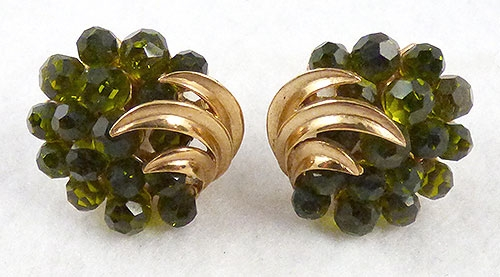 Winter Colors Jewelry - Trifari Peridot Briolette Earrings