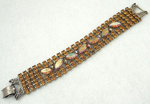 Bracelets - Vintage Topaz Rhinestone Bracelet