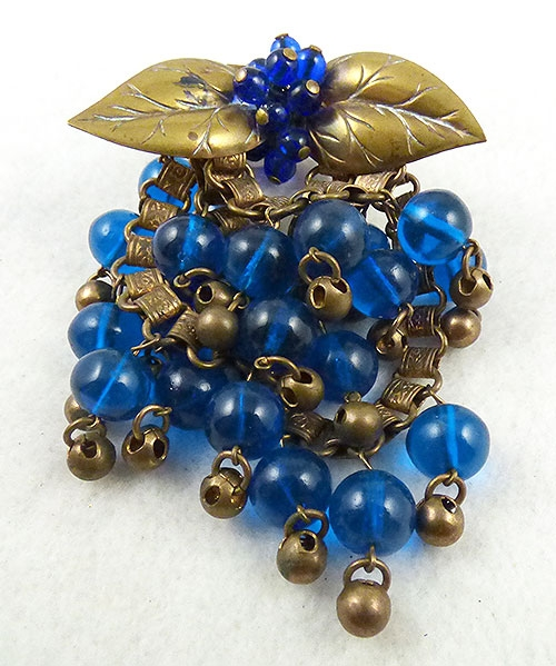 Pantone Color of the Year 2020 - Miriam Haskell Blue Beads Brooch