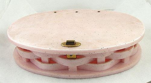 Purses - Vintage Pink Confetti Lucite Clutch Purse