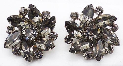 Newly Added DeLizza & Elster Black Diamond Rhinestone Earrings