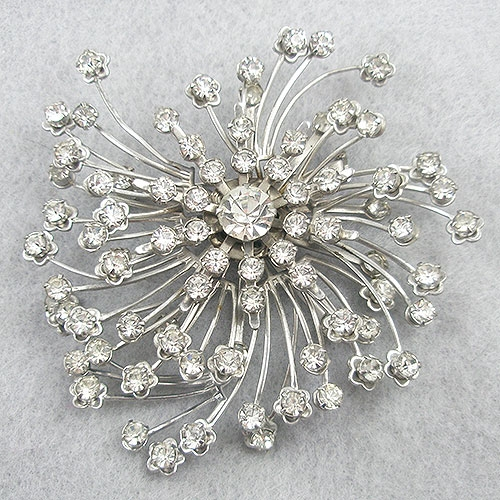 Brooches - Vintage Rhinestone Atomic Brooch