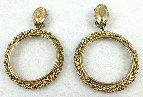 Napier - Napier Gold Beads Hoop earrings