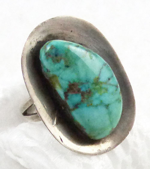 Mexico - Mexican Sterling Modernist Turquoise Ring