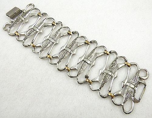 Mid-Century Modern - Selini Wide Silver Bracelet