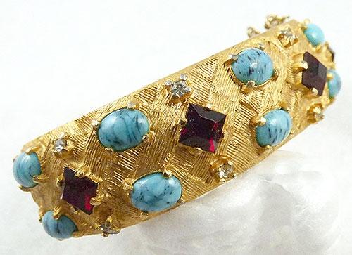 Bracelets - Charel Jeweled Clamper Bracelet