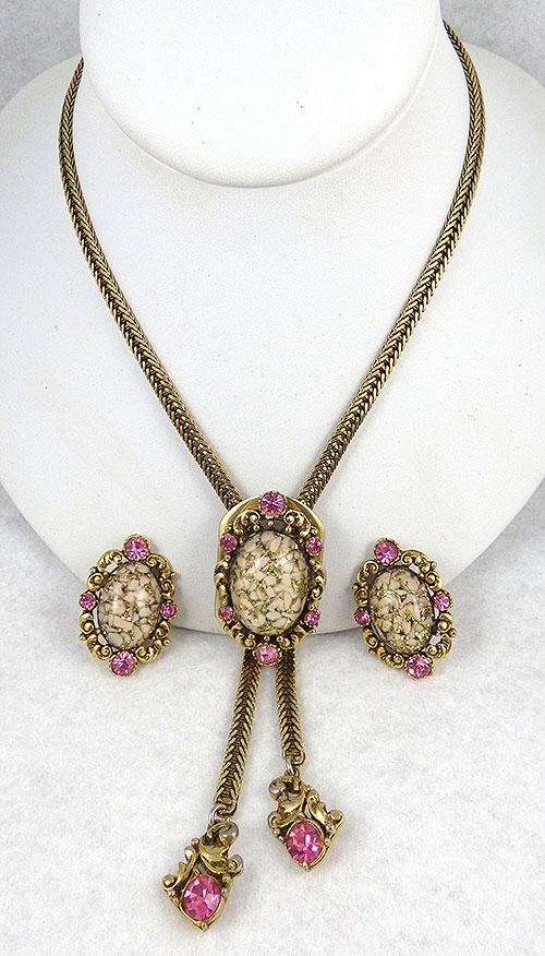 Selro/Selini - Selro Pink Confetti Bolo Necklace Set