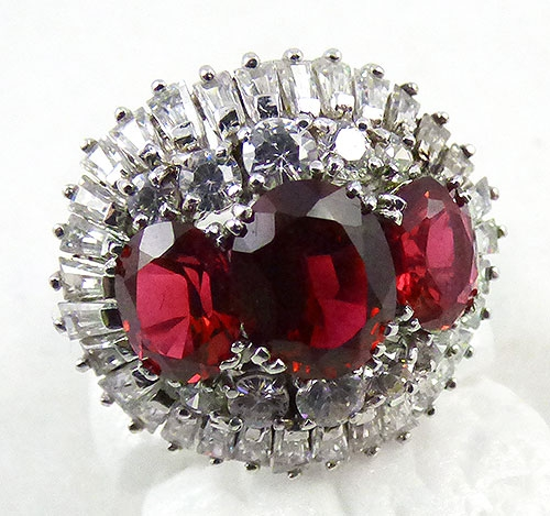 Countess Madeleine - Countess Madeleine Ruby CZ Sterling Ring
