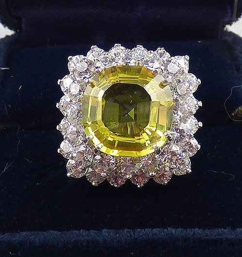 Countess Madeleine - Countess Madeleine Yellow CZ Sterling Ring