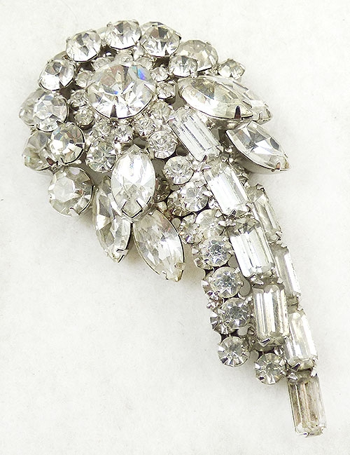 Newly Added DeLizza and Elster Rhinestone Comet Brooch