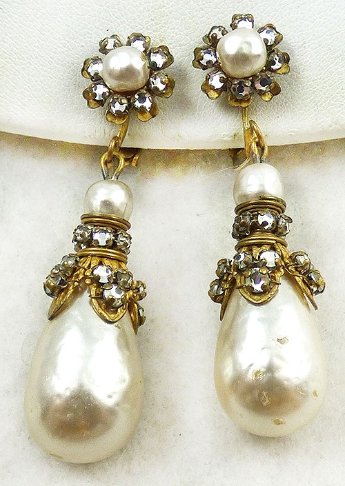 Haskell, Miriam - Miriam Haskell Pearl Drop Earrings