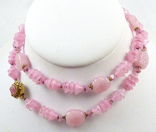 Haskell, Miriam - Miriam Haskell Pink Bead Necklace
