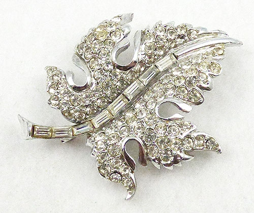 Newly Added Pell Rhinestone Leaf Brooch