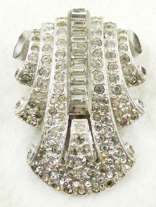Newly Added Art Deco Rhinestone Dress Clip
