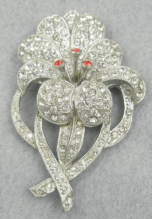 Florals - Rhinestone flower dress clip