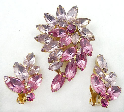 Newly Added DeLizza and Elster Pink and Lavender Navette Parure
