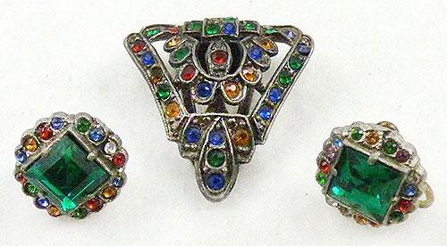 Newly Added Multi Rhinestone Dress Clip Earrings Set