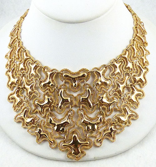 Monet - Monet Gold Mandira Bib Necklace
