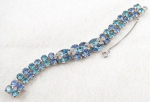 Eisenberg - Eisenberg Ice Light Blue and Aqua Rhinestone Bracelet