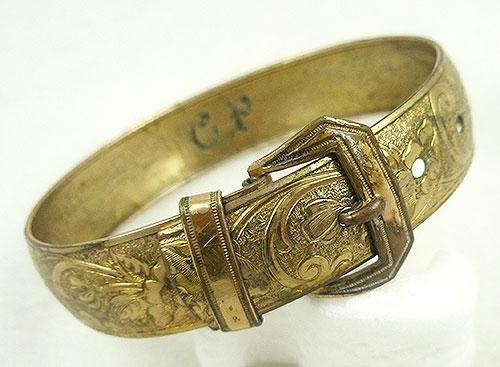 Bracelets - Victorian Gold Filled Buckle Bracelet