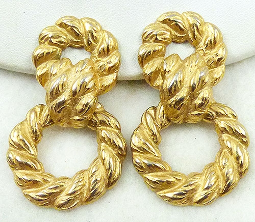 Newly Added Diane Von Furstenberg Door Knocker Earrings