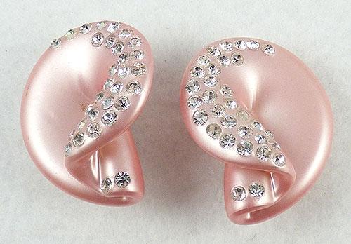 Earrings - Pink Moonglow Lucite Earrings