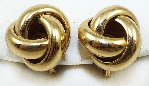 Monet - Monet Gold Tone Knot Earrings