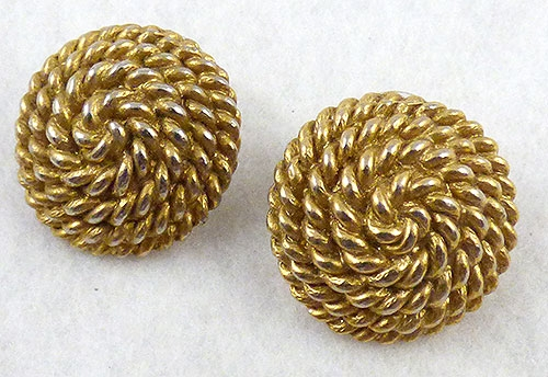 Monet - Monet Coiled Rope Earrings