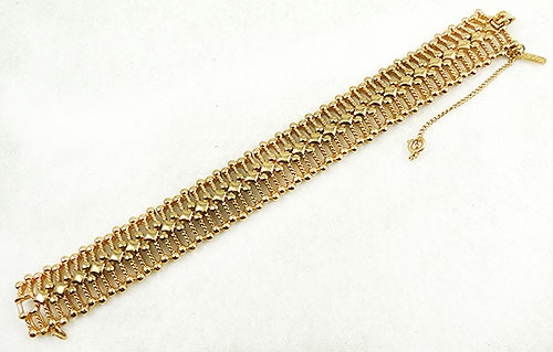 Newly Added Monet Gold Tone Spiked Link Bracelet