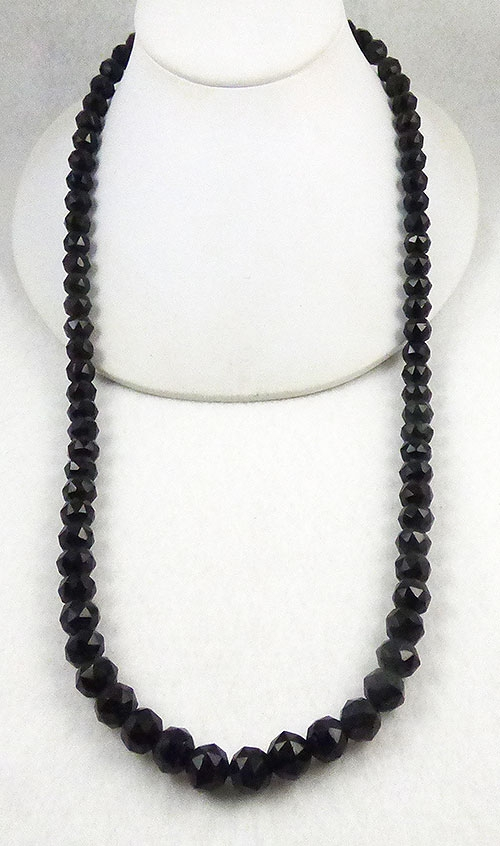 Newly Added Vintage French Jet Bead Necklace