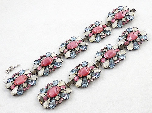 Vendome - Vendome Pink Givre & Alexandrite Bracelets Pair