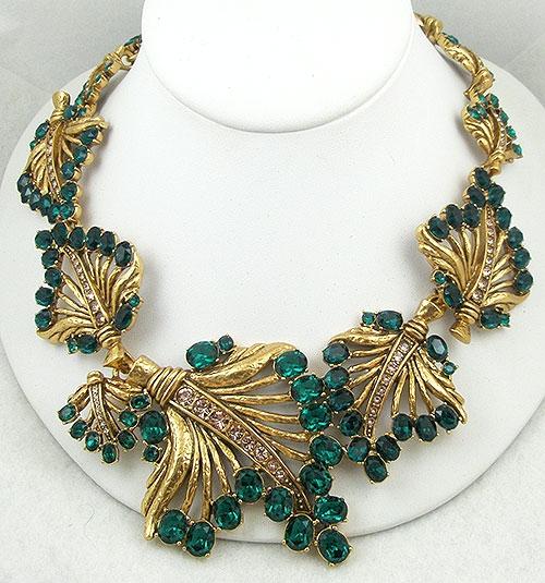 Contemporary - Oscar de la Renta Emerald Leaves Necklace