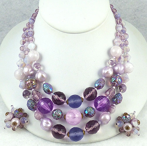 Germany - West Germany Purple Beads Necklace Set