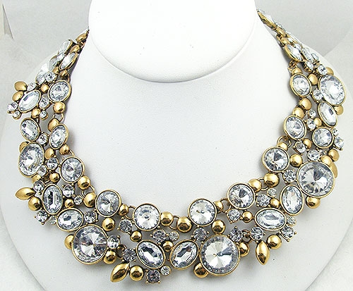 Bridal, Wedding, Special Occasion - Contemporary Crystal Rivoli Rhinestone Necklace