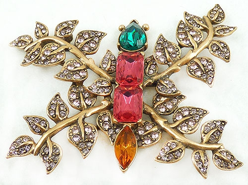 Newly Added Oscar de La Renta Butterfly Brooch