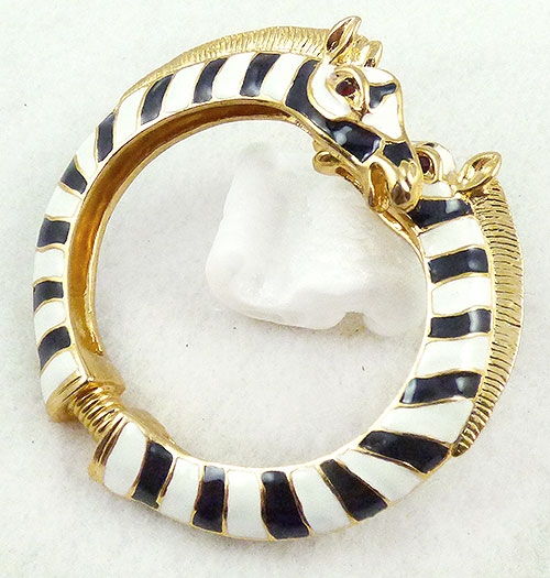 Lane, Kenneth J. - Kenneth Lane Enamel Zebra Bracelet