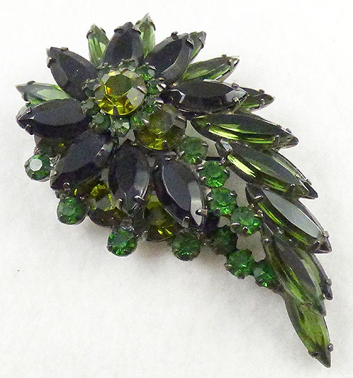 Newly Added DeLizza and Elster Green Layered Brooch