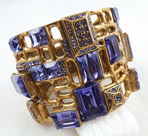 Bracelets - Oscar de La Renta Purple Squares Bracelet