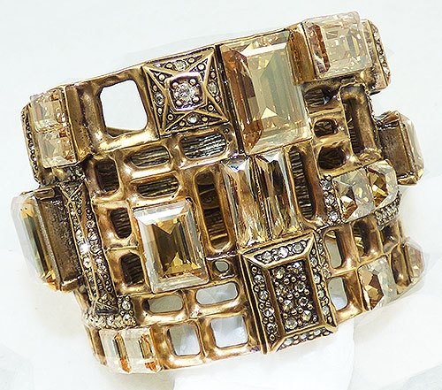 Newly Added Oscar de La Renta Gold Crystal Bracelet