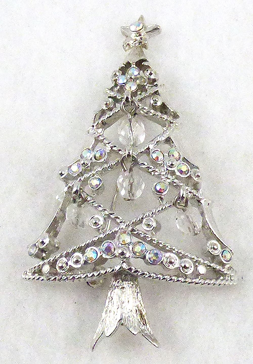 Brooches - GemCraft Aurora Rhinestone Christmas Tree Brooch